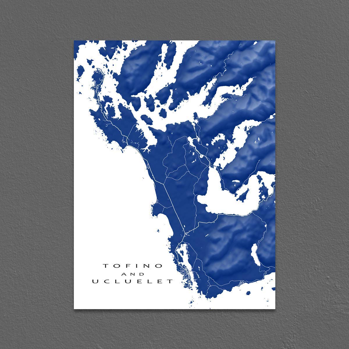 Map Of Canada To Colour.Amazon Com Tofino And Ucluelet Map Print British Columbia Canada