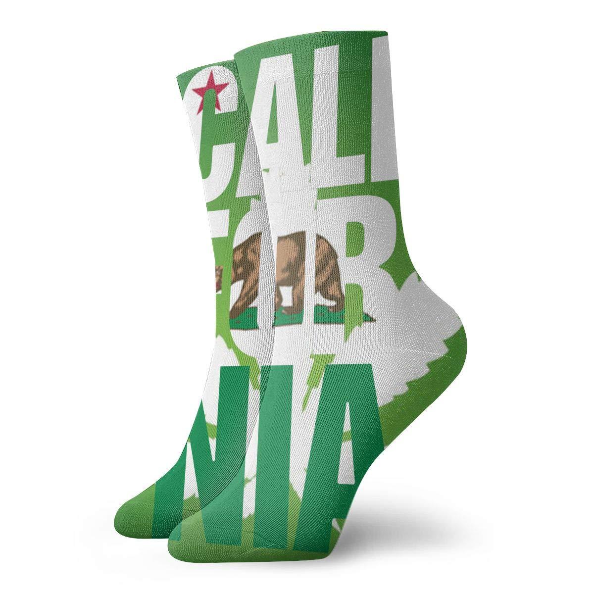 SESY California Bear Weed Unisex Crew Socks Short Sports Stocking