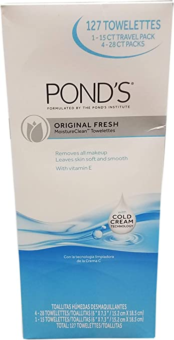 Ponds Facial Cleansing Wipes, 127 Count