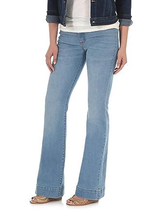 f12ecd20b9f471 Wrangler Women's Retro Mae Mid Rise Stretch Wide Leg Jean, Bellemount, 00X34