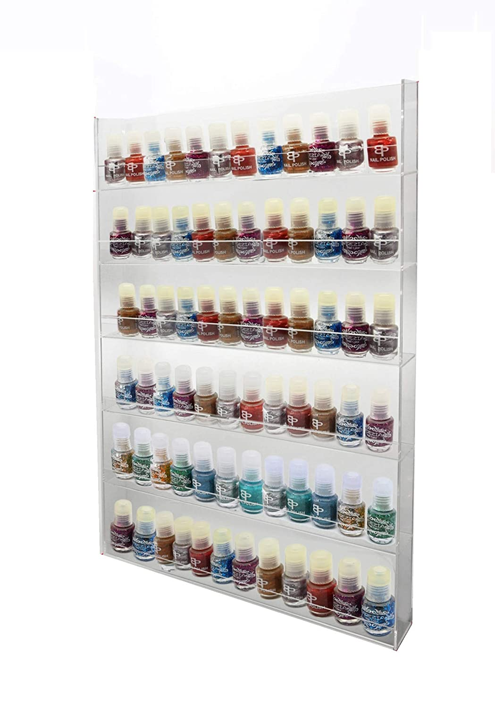 1 High Gloss Acrylic Wall Mounted 6 x 12 Nail Polish Display Rack ANPR24B-072 [Energy Class A+++] PC3721