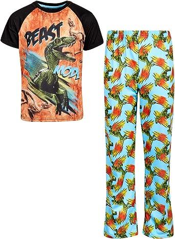 Amazon.com: Only Boys' Pajama Set - Short Sleeve T-Shirt and Pajama Bottoms  Sleepwear Set: Clothing