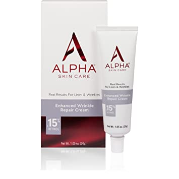 Alpha Skin Care Enhanced Wrinkle Repair Cream 0.15% Retinol 1.05 oz (Pack of 6) Hyaluronic Acid 100% Pure Serum