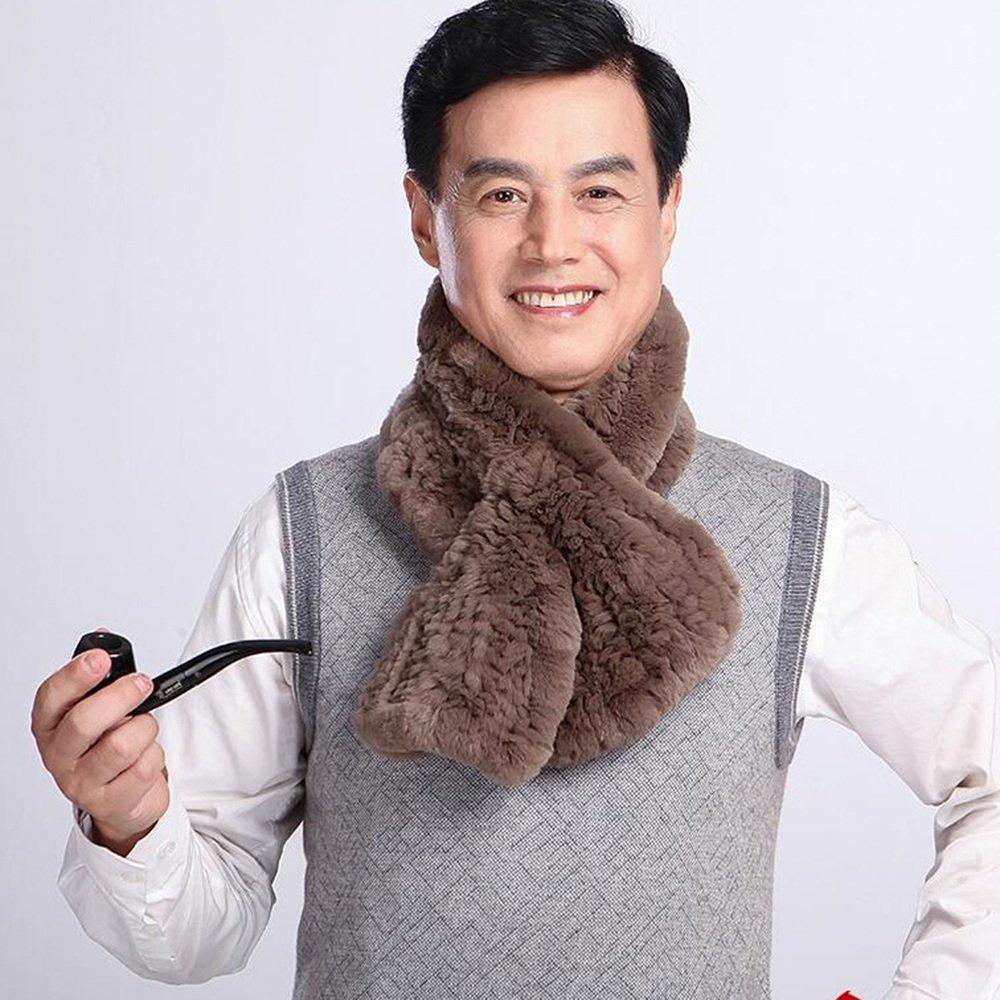 HAIZHEN alla moda alla moda Sciarpe di moda Maschio Autunno E Inverno Tessitura Caldo Padre Padre Scuola Media Uomo Morbido e caldo ( Colore : Marrone chiaro )