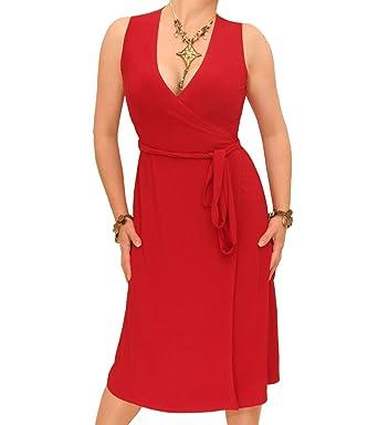Blue Banana - Sleeveless Wrap Dress at Amazon Women's Clothing ...