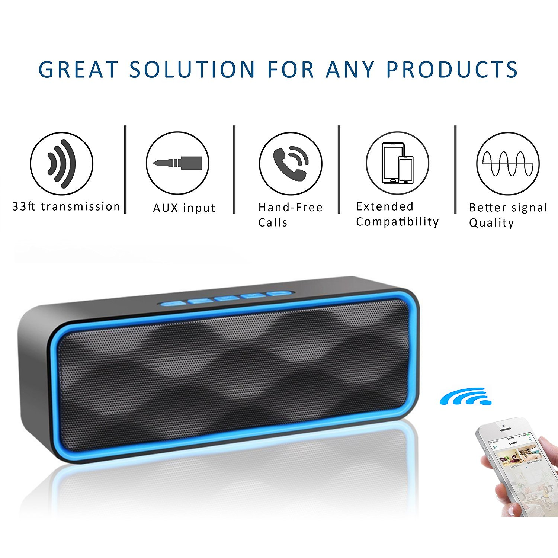 Aigoss S3 Wireless Bluetooth Lautsprecher blau Outdoor Stereo-Lautsprecher