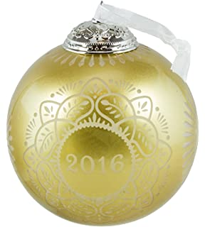 Amazoncom Commemorative Christmas Green Ball Ornament 2015
