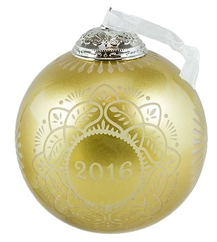Hallmark Keepsake 2016 Christmas Commemorative Gold Glass Ball Ornament - Amazon.com: Hallmark Keepsake 2016 Christmas Commemorative Gold