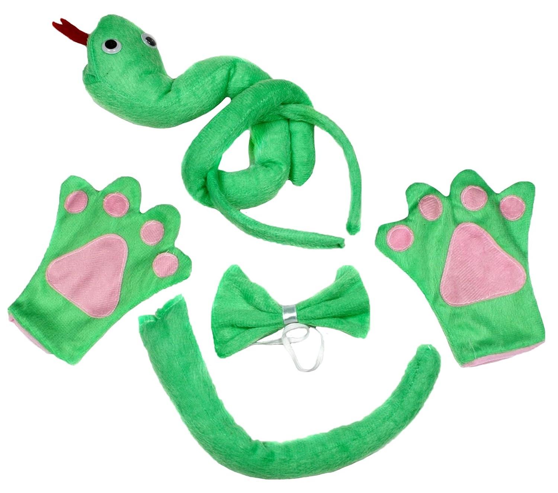 Petitebelle Verde Serpiente Diadema Pajarita Cola Guantes de ...