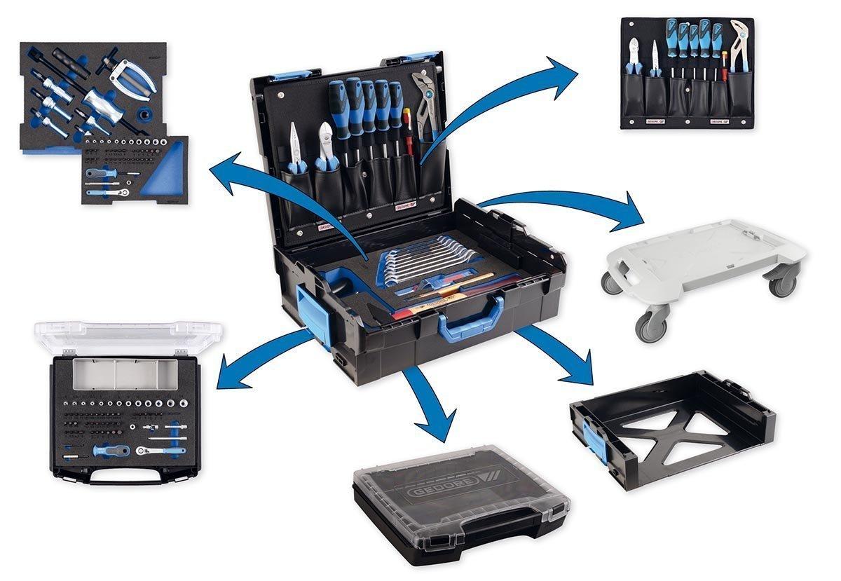 Spannungspr/üfer Profi Werkzeuge f/ür jede Gelegenheit Der Azubi Werkzeugkoffer mit Check-Tool-Einlage GEDORE L-BOXX 136-23 teilig