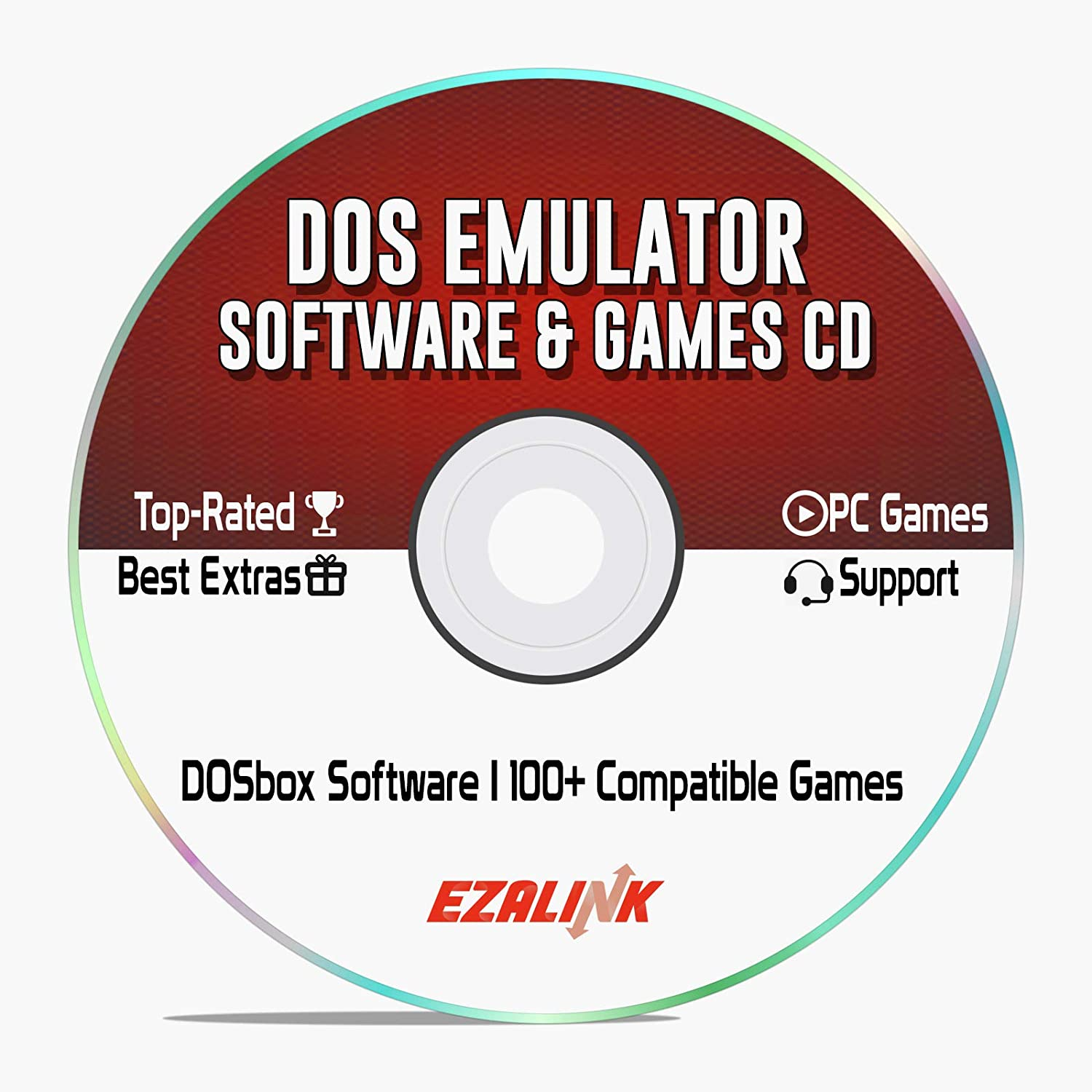 DOS Emulator Software DOSBox to Run Classic Games on Windows 10, 8, 7 PC &  MAC CD Disc with 100+ Ready to Play Games