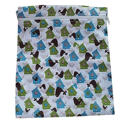 Generic - Infantil del bebé impermeable de la cremallera del paño reutilizable bolsa de pañales (