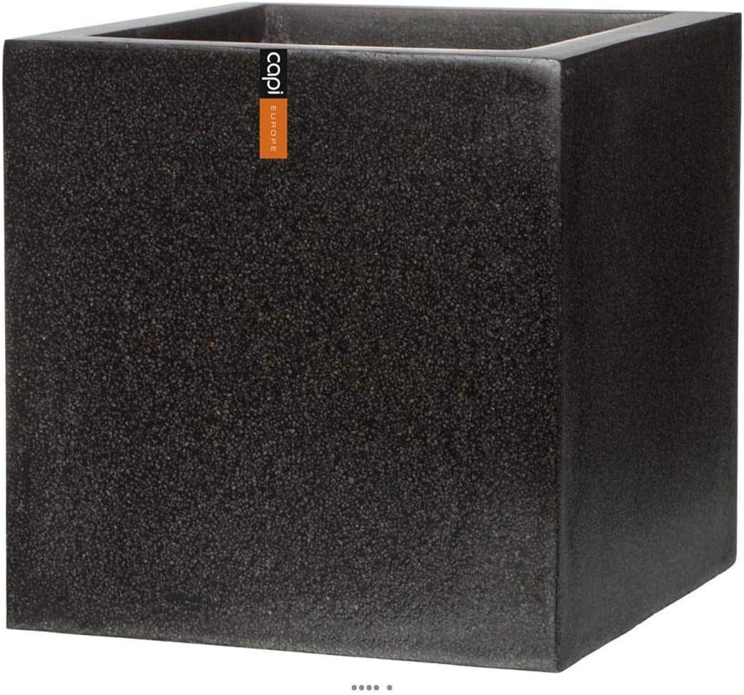 Artificielles.com Couleur: Noir Bac en Pures Fibres Baya Ext dimhaut: H 60 cm dimhaut: H 60 cm Couleur: Noir Cube L 60 x 60 x H60 cm Noir