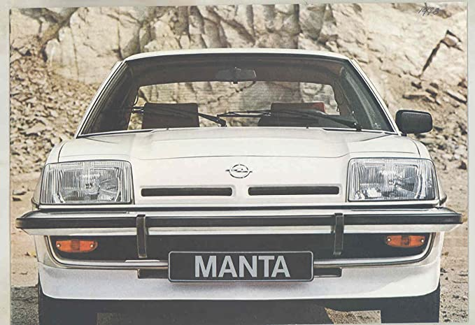Amazon.com: 1978 Opel Manta GT E Brochure German: Entertainment Collectibles