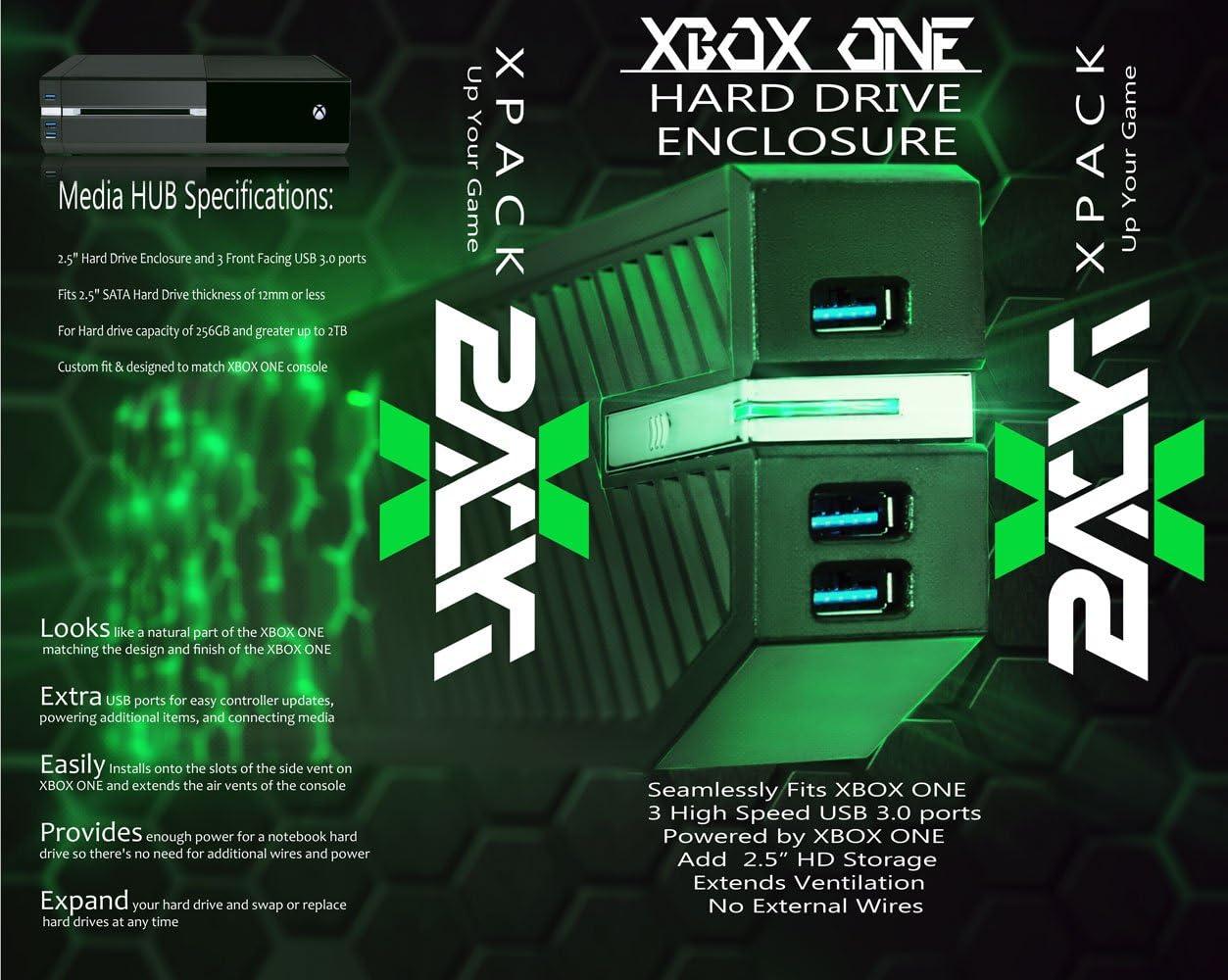 Amazon com: XPACK XBOX ONE Hard Drive Enclosure and USB