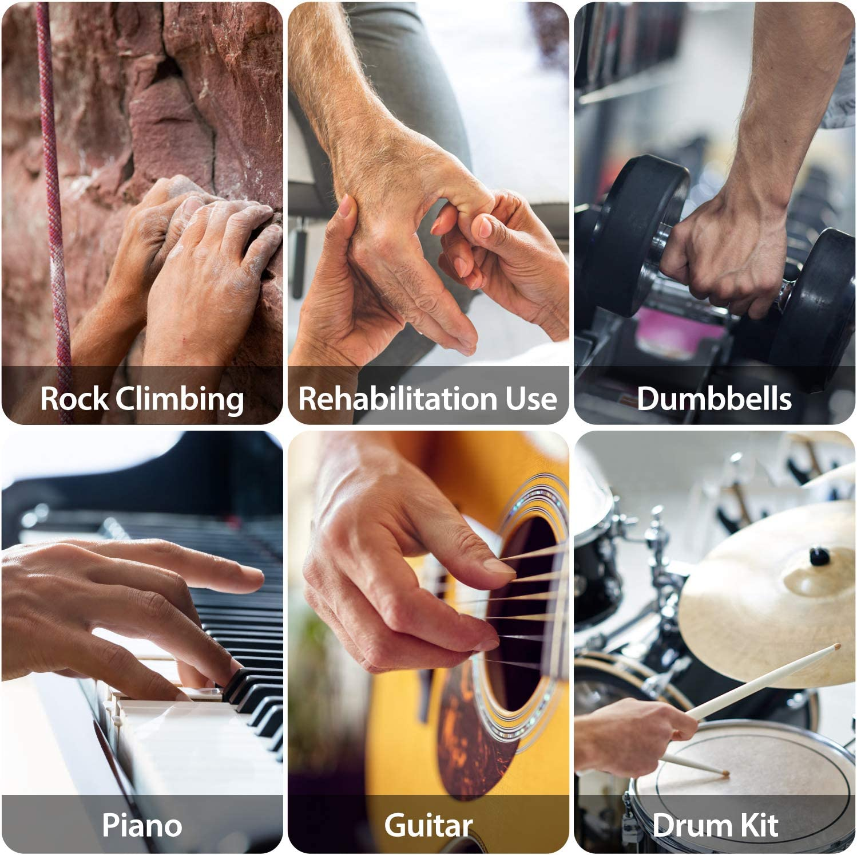 Arteesol Adjustable Hand Grip Strengthen Wrist Finger Forearm Exerciser 5PC Set