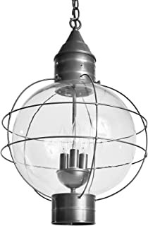product image for Brass Traditions 602-3-GM Extra Large Hanging Onion Lantern Three Light, Gun Metal Finish Three Light Extra Hanging Onion Lantern