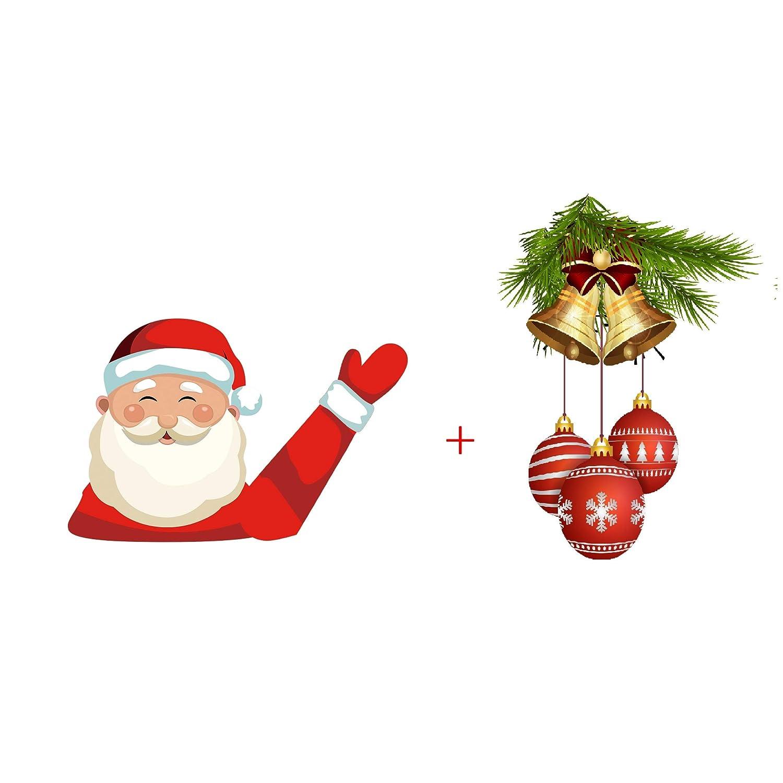 MIYSNEIRN Christmas Rear Wiper Decal Sticker Santa Wiper Tag ...