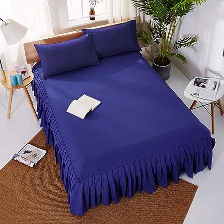 Para la cama blanca europea Sábanas plisadas Falda de cama Hotel ...