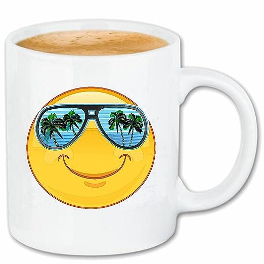 Taza párrafo café fiestas Smiley en Mallorca con gafas de ...