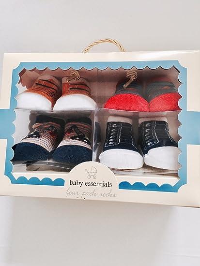 Amazon.com  BABY ESSENTIALS-4 PACK SOCKS  Clothing efcb54bd3ec