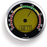 50mm Thermometer Cigar Hygrometer Monitor Meter Gauge Humidity Measuring Tool RS