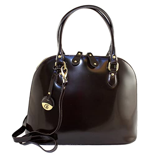 fb8726855f Gilda Tonelli Women s 8682 Bowling Bag Brown dark brown  Amazon.co.uk   Shoes   Bags