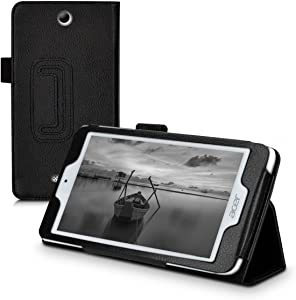 kwmobile Case Compatible with Acer Iconia One 7 (B1-780) - Slim PU Leather Tablet Cover with Stand Feature - Black