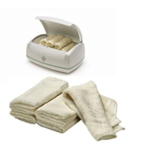 Prince Lionheart WARMIES BUNDLE toallitas CALENTADOR Y Warmies reutilizable de tela de bambú Toallitas 2 artículos (Se distribuye desde el Reino Unido)