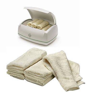 Prince Lionheart WARMIES BUNDLE toallitas CALENTADOR Y Warmies reutilizable de tela de bambú Toallitas 2 artículos