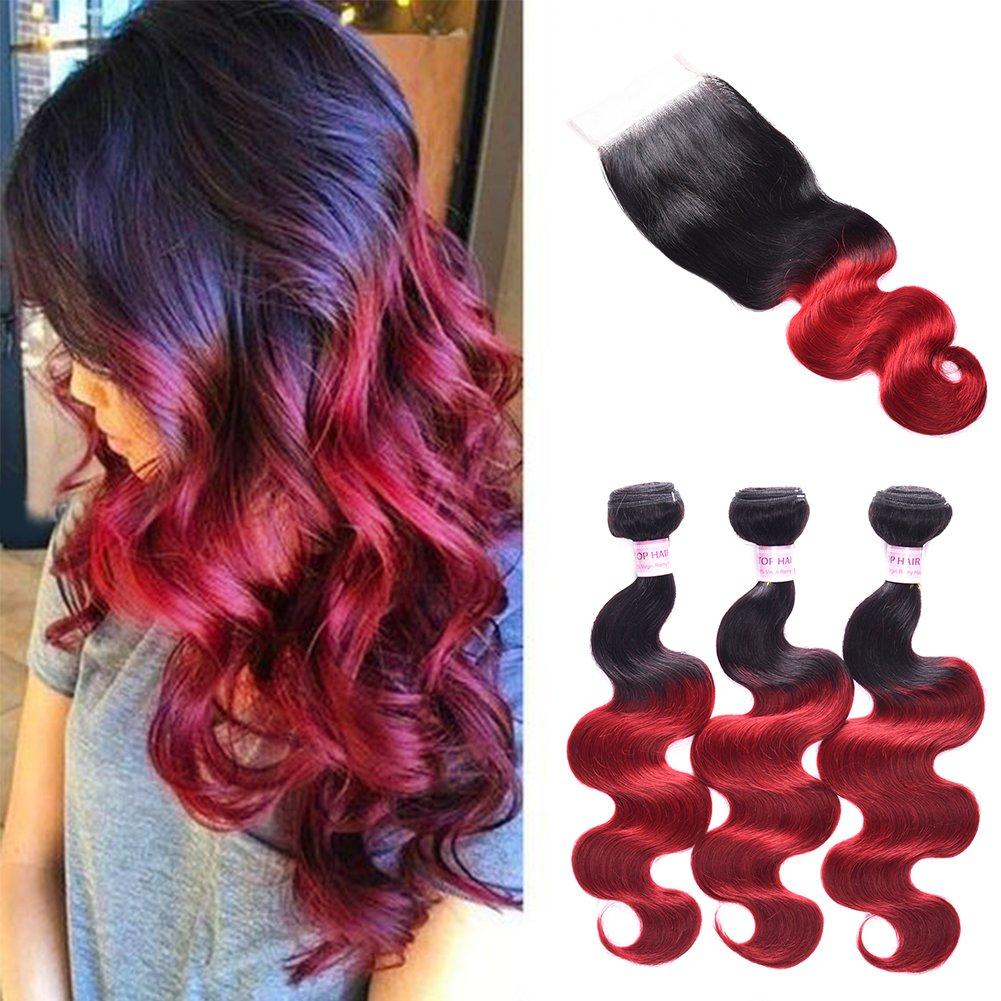 Amazon Top Hair Brazilian Ombre 3 Bundles 300 Gram 101214