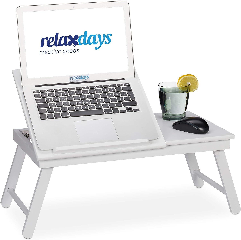 Relaxdays Bambus Laptoptisch Aufstellbare Ablage Für Buch Laptop Klappbar Mit Schublade Hbt 24 X 60 X 35 Cm Weiß Küche Haushalt