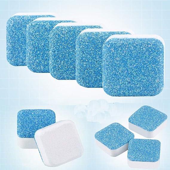 Limpiador de lavadoras GOBEAUTY Premium descalcificador de lavadora, limpieza profunda, hoja de limpieza para tanque de lavadora, tabletas efervescentes para todas las lavadoras: Amazon.es: Hogar