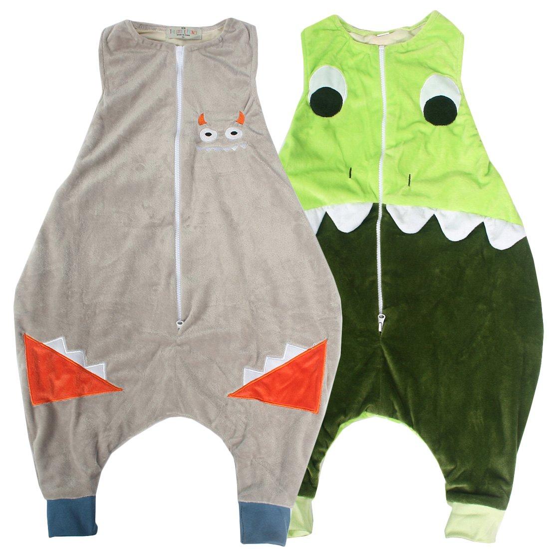 KF Baby Flannel Walker Sleep Bag Wearable Blanket for Kids, Set of 2 [M] kilofly