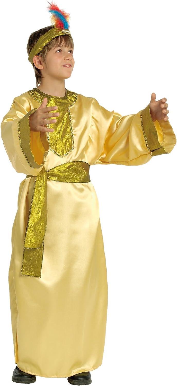 Stamco Disfraz Rey Mago Niño Oro (8 - De 6 a 8 años): Amazon.es ...