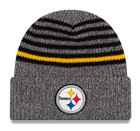 bb11d2c9331dad Image Unavailable. Image not available for. Color: New Era Pittsburgh  Steelers Stripe Strong Cuffed Knit ...