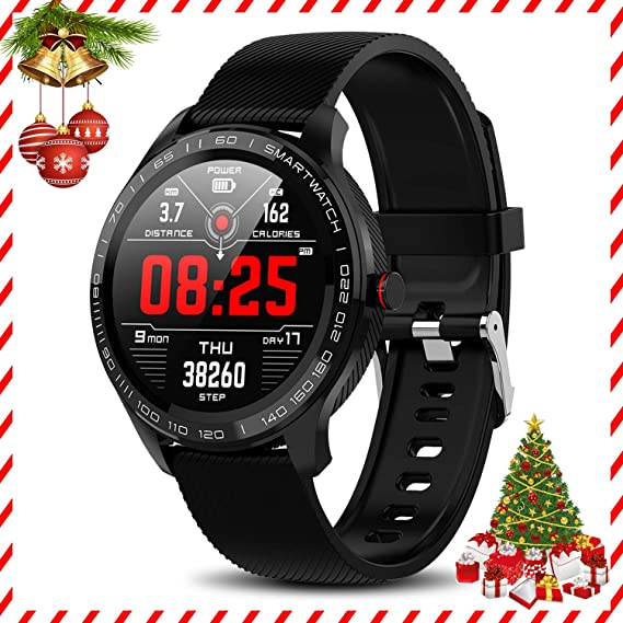 Yocuby Sport Smartwatch for Android iOS Phone, IP68 Waterproof Fitness Tracker Watch with HR Monitor, Step Counter, Calorie Counter Bluetooth Activity ...