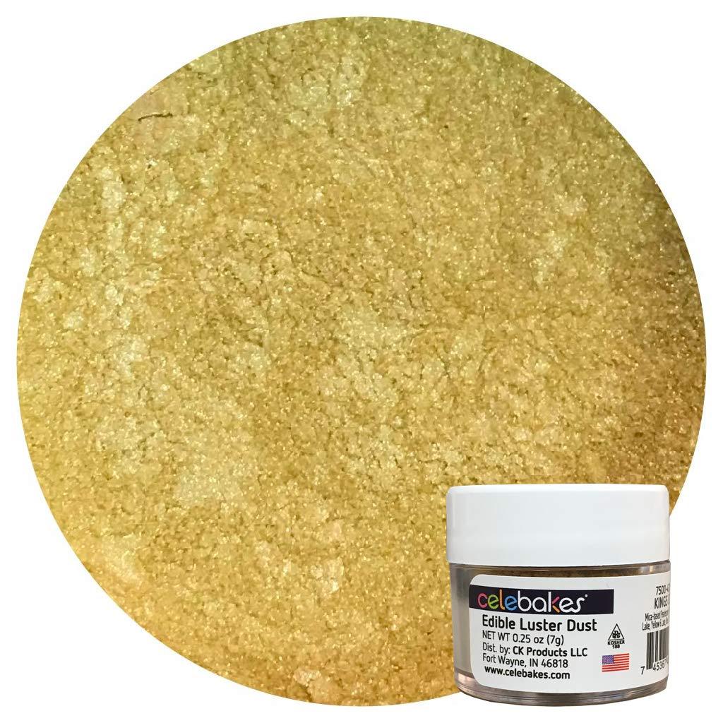 Celebakes Edible Luster Dust, Kings Gold, .25oz