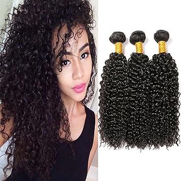 Human Hair Weave Curly Bundles Echthaar Tressen Kinky Brasilianische