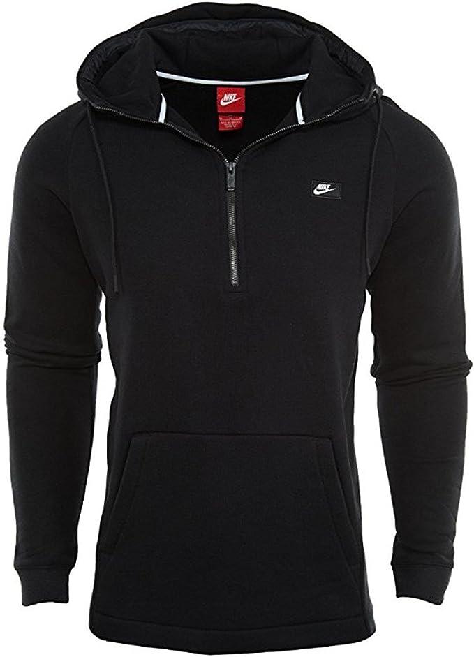 Nike Men's Modern Half Zip Hoodie Black Sz Small: