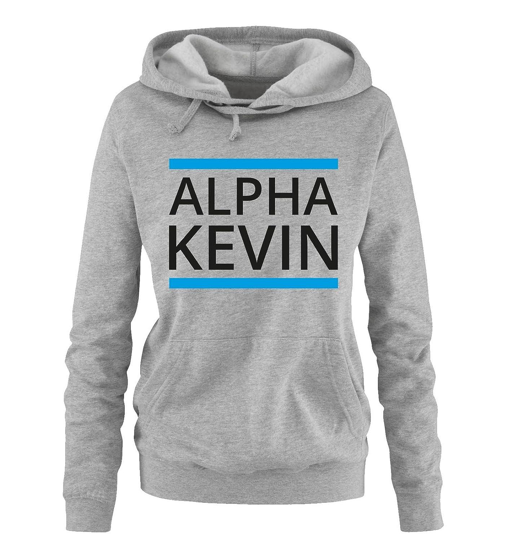 Comedy Shirts Alpha Kevin Damen Hoodie: : Bekleidung