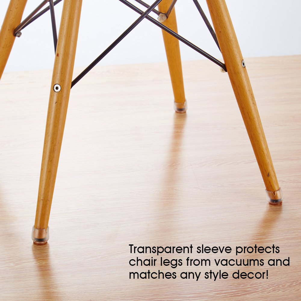Chair Leg Caps,Mocofo Furniture Protective Leg Tips Wood Floor Protectors,Silicone Caps with Felt Pads,Chair & Table Feet Glides Fit Round Diameter From 1\