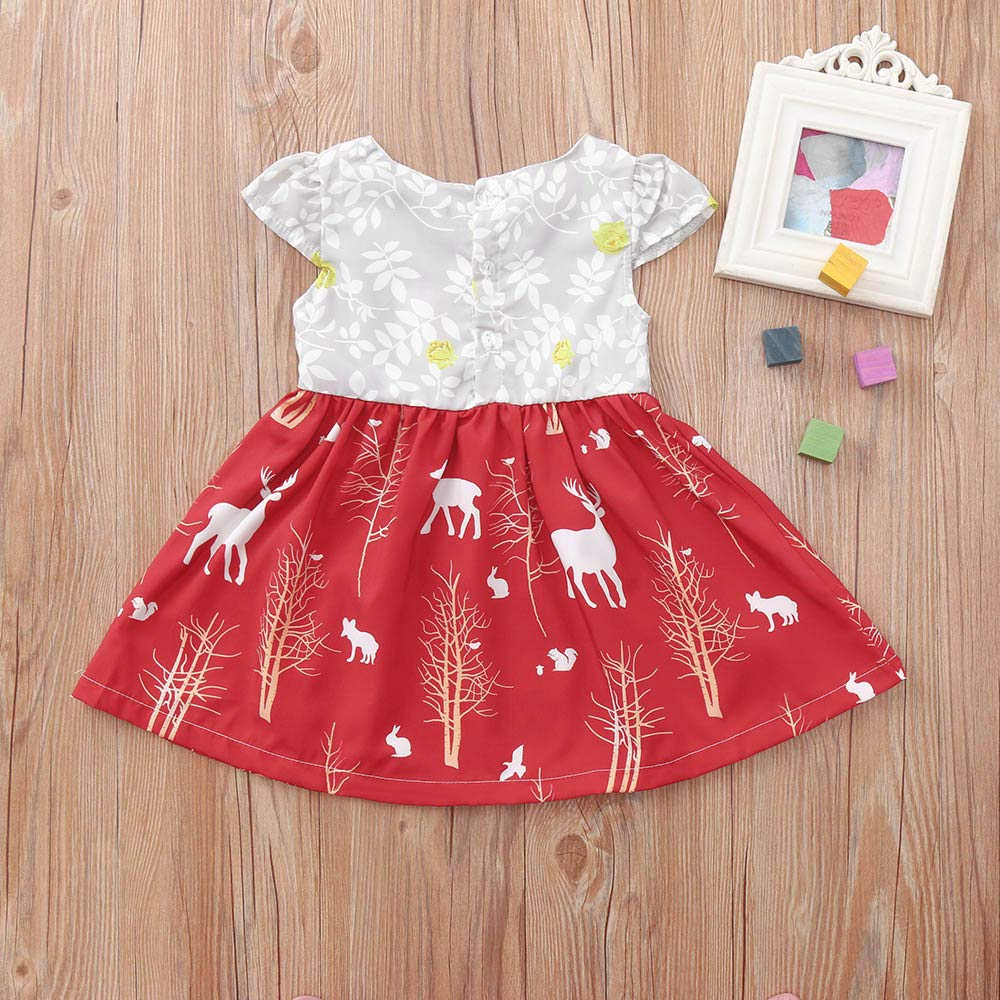 Memela Baby Christmas Outfit,Baby Kids Girl Long Sleeve Plaids Checked Party Christmas Dresses Tutu