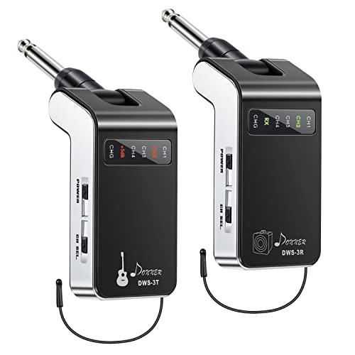 Donner New Version Rechargeable Wireless System DWS-3 Digital Guitar Bass Audio Transmitter