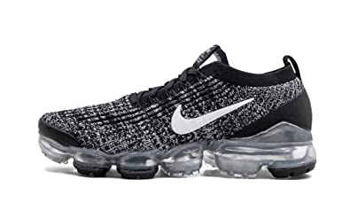 12ebe3ae7b1b0 Amazon.com | Nike W Air Vapormax Flyknit 3 (Black/White-Metallic ...