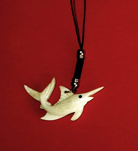 Amazon.com: hand carved bone swordfish dangle for your phone keys
