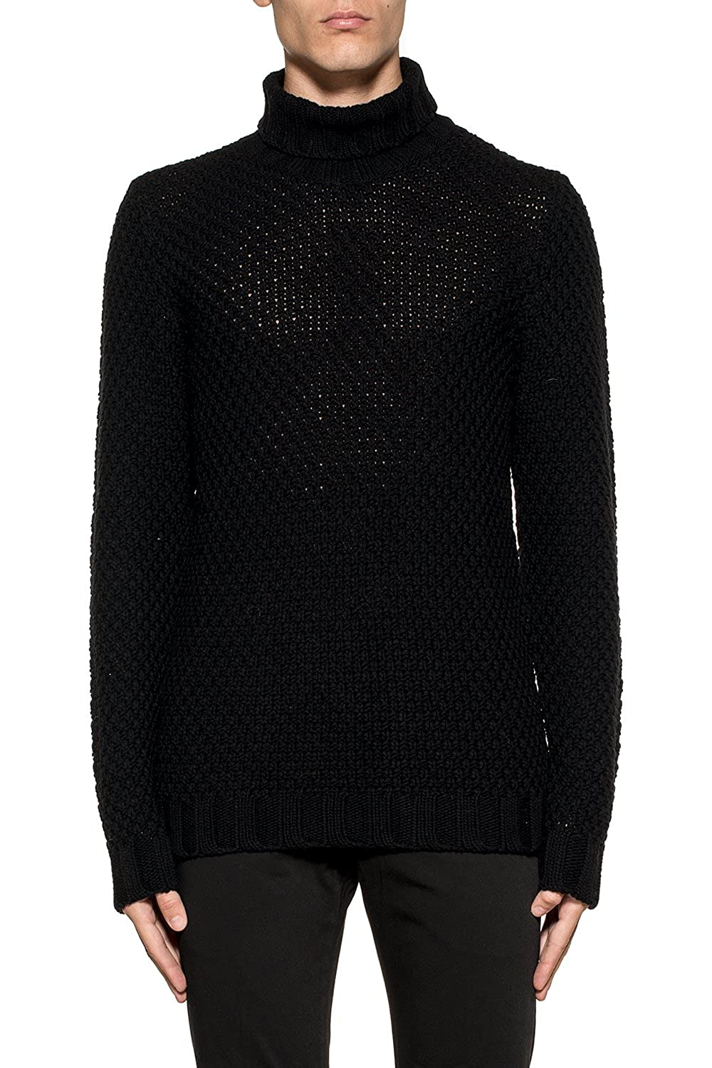 Become Homme 587371A09 Noir Laine Maille