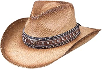 6d79d03156e Deadwood Trading Country Luster - Shapeable Raffia Straw Cowgirl Hat