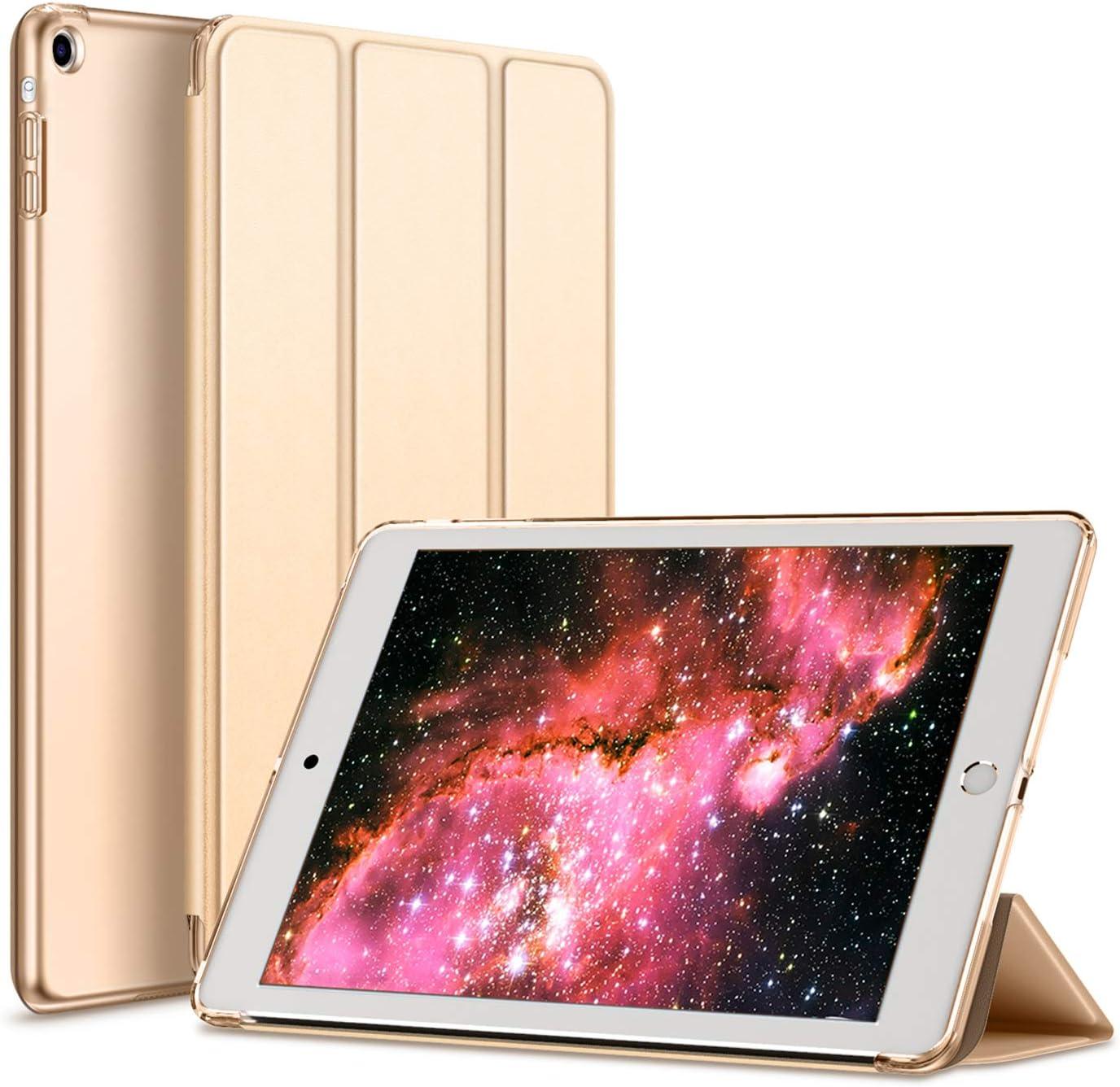 Kenke iPad Case Mini 1/2/3 Generation Slim Lightweight Smart iPad Cover 7.9 Inch,Transparent Hard Shell with Auto Sleep Wake for iPad Mini 1, Mini 2, Mini 3 (Gold)