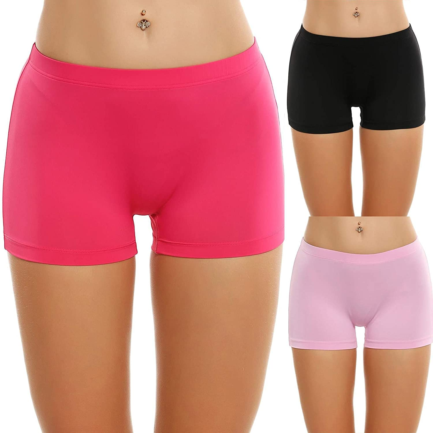42bc46939b88 Cozy waistband and seamfree design boyshort panties are featured  stay-in-place legs. Confort invisible hipster briefs are perfect for panty,  ...
